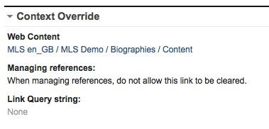 Detail of Index List content item